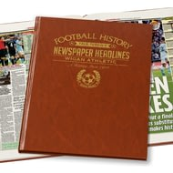 Personalised Wigan Athletic Football Newspaper Book - Leatherette Cover