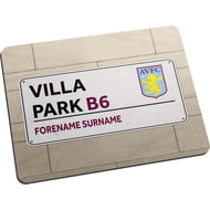 Personalised Aston Villa FC Street Sign Mouse Mat