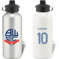 Personalised Bolton Wanderers Retro Shirt Aluminium Sports Water Bottle