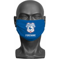 Personalised Cardiff City FC Crest Adult Face Mask