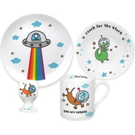 Personalised Cosmic 4 Piece Ceramic Breakfast Set