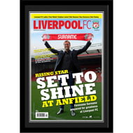 Personalised Liverpool FC Magazine Front Cover Photo Framed