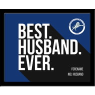 Personalised Millwall FC Best Husband Ever 10x8 Photo Framed
