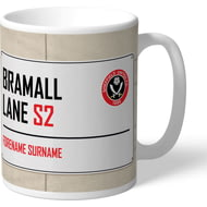 Personalised Sheffield United FC Street Sign Mug