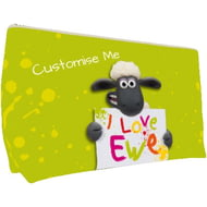 Personalised Shaun The Sheep Valentines Print Medium Wash Bag