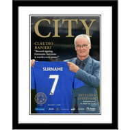 Personalised Leicester City FC Magazine Front Cover Framed Print