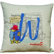 Personalised Paddington Bear Initial 40x40cm Cushion