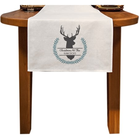 Personalised Stag Table Runner