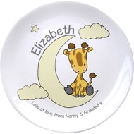"Personalised Sweet Dreams Giraffe 8"" Plate"