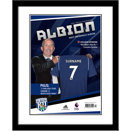 Personalised West Bromwich Albion FC Magazine Front Cover Framed Print