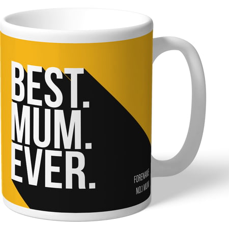 Personalised Wolves FC Best Mum Ever Mug