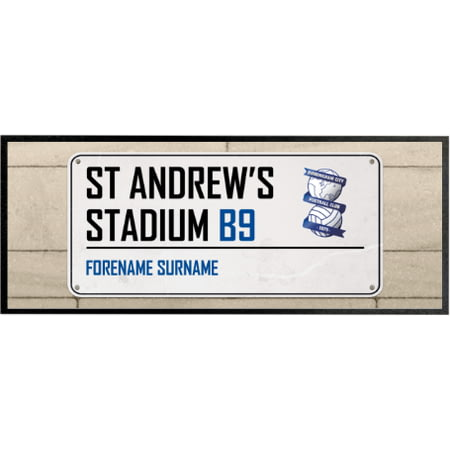 Personalised Birmingham City Street Sign Regular Bar Runner
