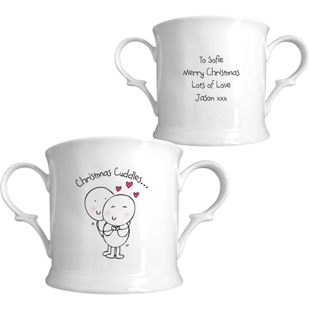 Personalised Chilli & Bubble's Christmas Cuddles Loving Cup