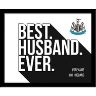Personalised Newcastle United Best Husband Ever 10x8 Photo Framed
