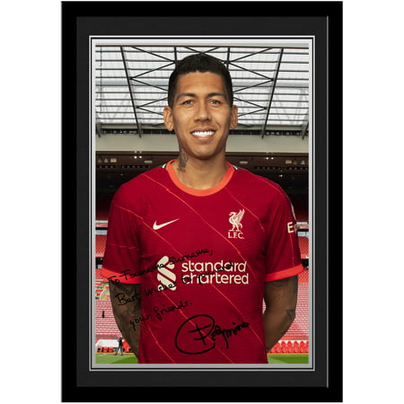 Personalised Liverpool FC Firmino Autograph Photo Framed