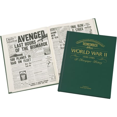 Personalised WW2 Historic Newspaper Book
