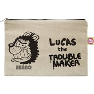Personalised Beano Big Heads Gnasher Canvas Pencil Case