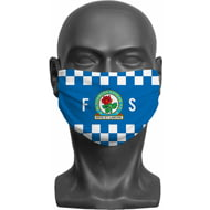 Personalised Blackburn Rovers FC Initials Adult Face Mask