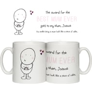 "Personalised Chilli And Bubble's ""Best Mum"" Ceramic Mug"
