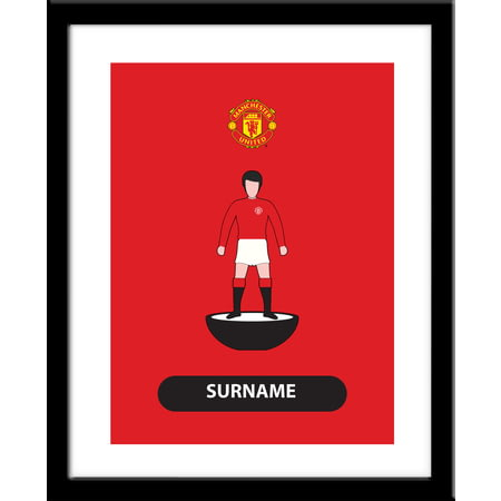 Personalised Manchester United Player Figure Framed Print