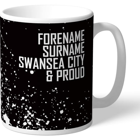 Personalised Swansea City AFC Proud Mug