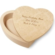 Personalised Wooden Heart Trinket Box