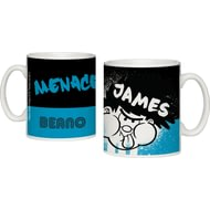 Personalised Beano Big Heads Dennis Ceramic Mug