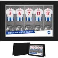 Personalised Brighton & Hove Albion FC 9x6 Dressing Room Shirts Photo Folder