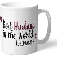 Personalised Burnley Best Husband In The World Mug