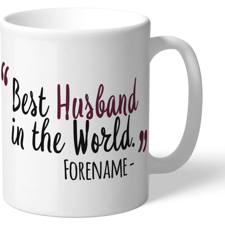 Personalised Burnley FC Best Husband In The World Mug
