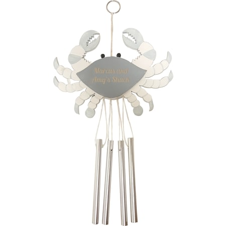 Personalised Crab Wind Chime