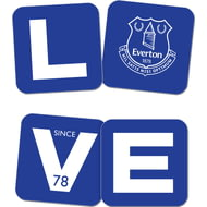 Personalised Everton FC Love Coasters (x4)
