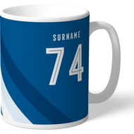 Personalised Leeds United FC Stripe Mug