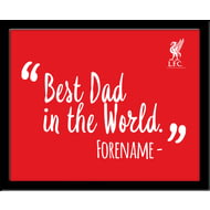 Personalised Liverpool FC Best Dad In The World 10x8 Photo Framed