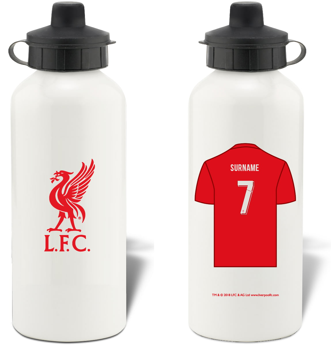 2dbac0af68 Personalised Liverpool FC Shirt Aluminium Sports Water Bottle from Go Find  A Gift