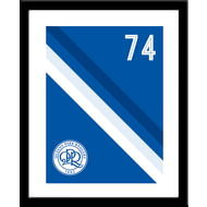 Personalised Queens Park Rangers FC Stripe Framed Print