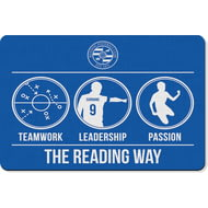 Personalised Reading FC Way Rubber Backed Large Floor Mat - 60x90cm