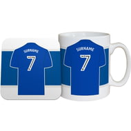 Personalised Birmingham City FC Shirt Mug & Coaster Set