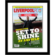Personalised Liverpool FC Magazine Front Cover Framed Print