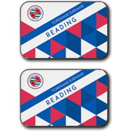 Personalised Reading FC Patterned Rear Car Mats