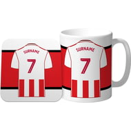 Personalised Sunderland AFC Shirt Mug & Coaster Set