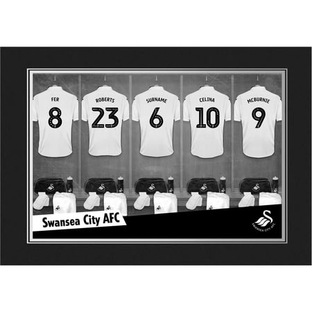 Personalised Swansea City AFC 9x6 Dressing Room Shirts Photo Folder