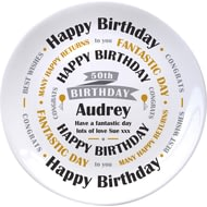 "Personalised Birthday Celebration 8"" Ceramic Commemorative Plate"