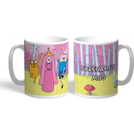 Personalised Adventure Time Group Name Mug