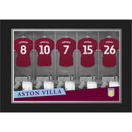 Personalised Aston Villa FC 9x6 Dressing Room Shirts Photo Folder
