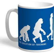 Personalised Cardiff City Evolution Mug