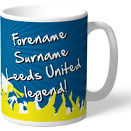 Personalised Leeds United FC Legend Mug