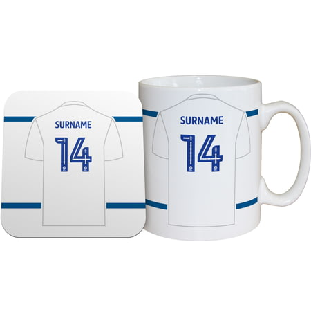 Personalised Leeds United FC Shirt Mug & Coaster Set