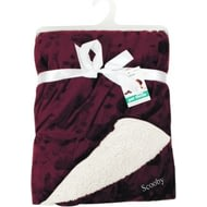 Personalised Maroon Luxury Pet Throw