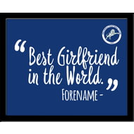 Personalised Millwall FC Best Girlfriend In The World 10x8 Photo Framed